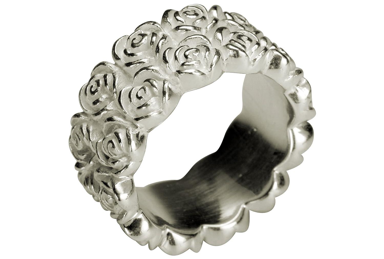 Rosenring Rose 925 Sterling Silber Ring Blume Rosen