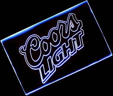 Coors light neon light bar sign blue lighted beer signs coors light neon light bar sign blue aloadofball Images