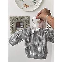 Chambrita gris de bebé/regalo recién nacido/ropita de bebé/babyshower/bautizo/niño/niña