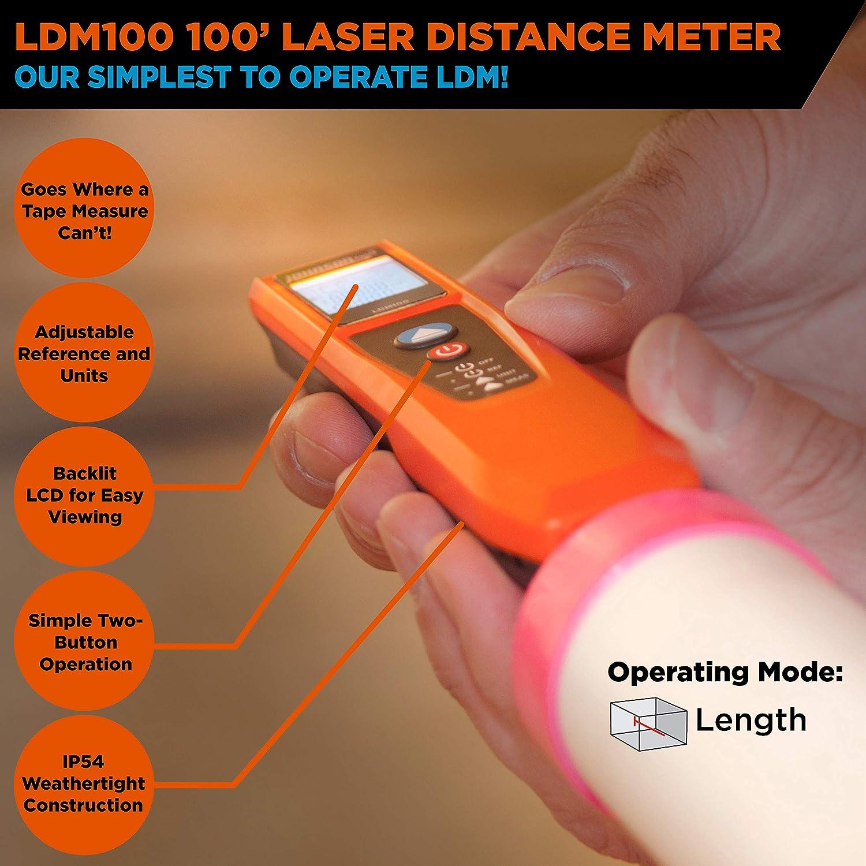 JOHNSON LEVEL /& TOOL LDM100 100 Laser Distance Measure