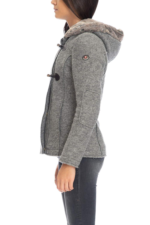 Cappotto corto donna Marian Canadiens grigio medio