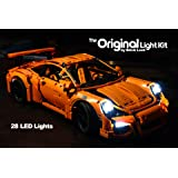 Brick Loot Porsche 911 GT3 RS Lighting Kit for LEGO 42056 Set (LEGO Set NOT Included)