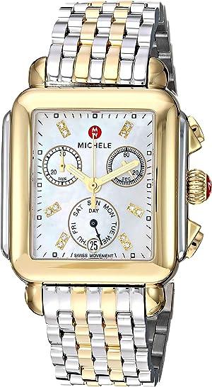 Michele Women's Deco Diamond Two-Tone Stainless Steel Watch