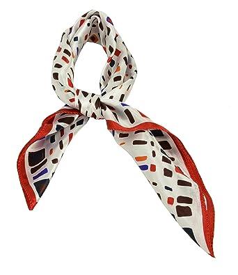 Cadeau Noël femmes carre echarpe foulard en satin main tete mainbag  multi-usage 118f910a89e