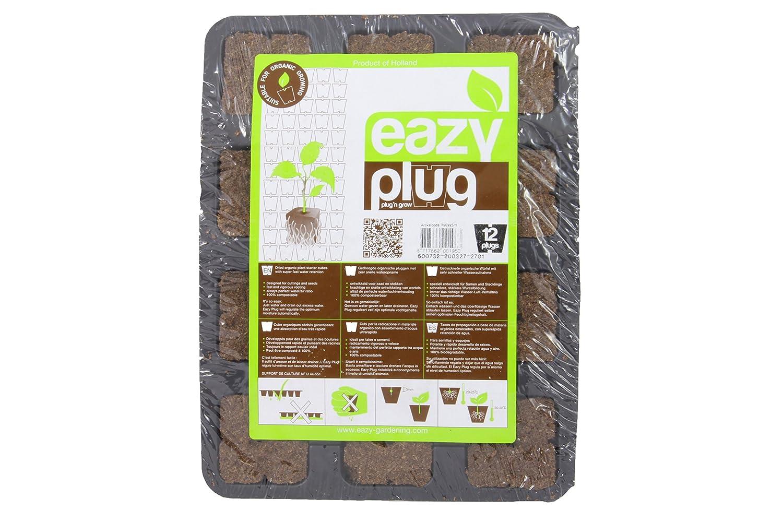 Eazy Plug Anzuchtset 12 Stk. - Torfquelltöpfe Anzuchterde Aussaterde Torftablette Quelltabletten Weedness