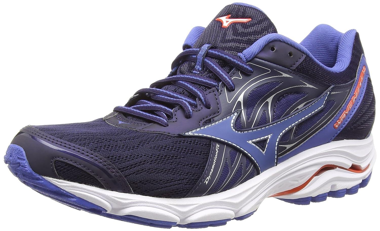 Mizuno Wave Inspire 14, Zapatillas de Running para Hombre 41 EU|Azul (Evening Blue/Delft/Cherrytomato 68)