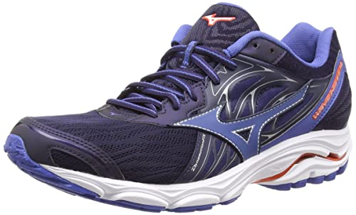 Mizuno Men s s Wave Inspire 14 Running Shoes Evening  Blue Delft Cherrytomato ... 403bd3b95a