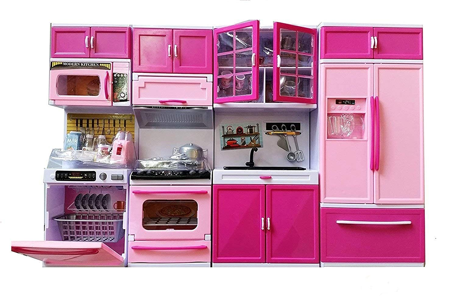 Buy happy giftmart large size 54 x 35 cm with 4 cabinet luxury kitchen set with light and sound online at low prices in india amazon in