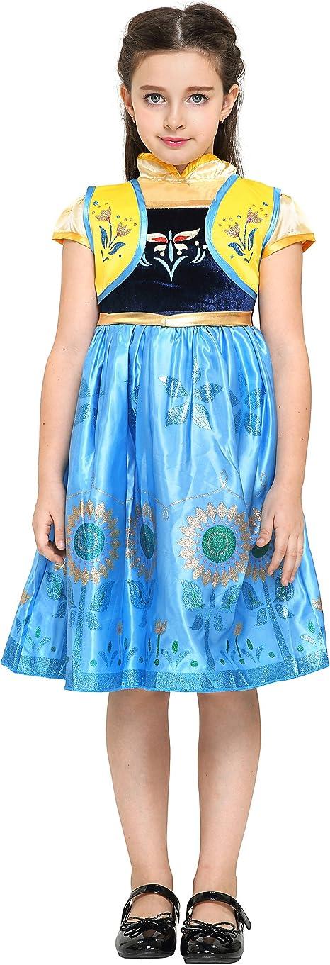Katara - Disfraz de Anna Frozen Fever, vestido floral de la Reina ...