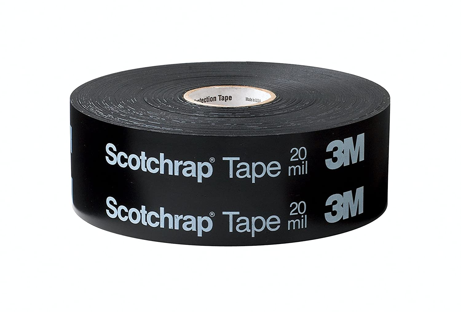 3M Scotchrap Vinyl Corrosion Protection Tape 51, Printed, 4 in x 100 ft, Black 81xW6aSkTCL