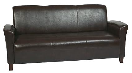 Office Star SL2273EC9 SL2273EC9-osp Mocha Bonded Leather Sofa