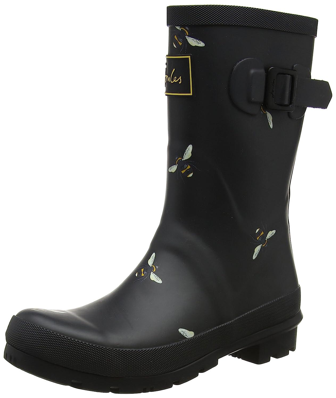 Joules Women's Mollywelly Rain Boot B078DF9SV5 UK3 EU36 US5|Black Botanical Bees