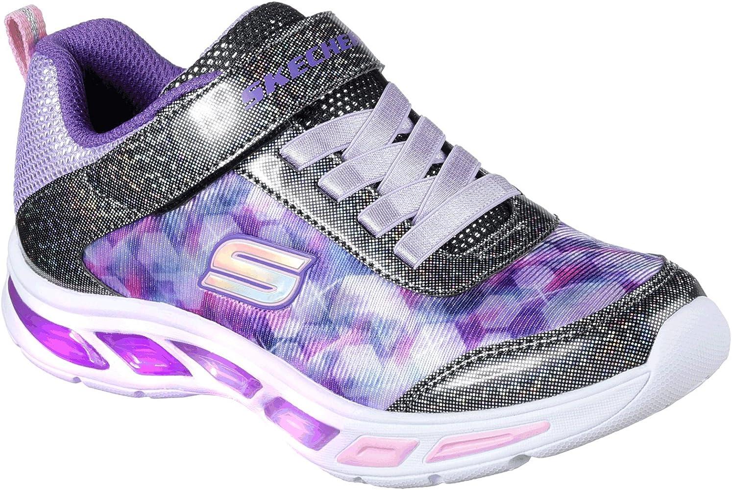 Skechers Litebeams Dance N'glow, Baskets Fille