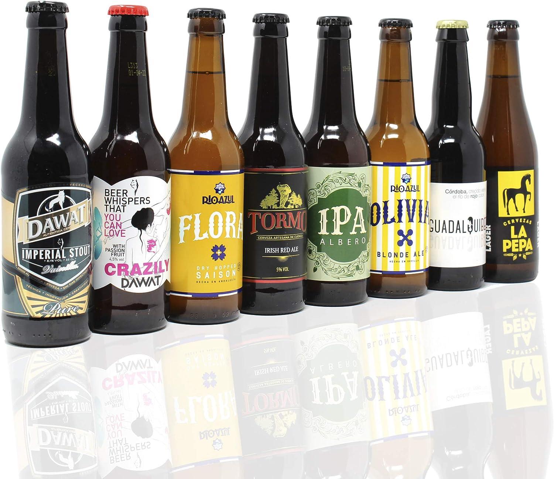 Pack de cerveza artesana. 16 Cervezas Artesanas de las mejores marcas. El mejor regalo. Incluye Río Azul Flora, medalla de Bronce en Barcelona Beer Challenge 2020 categoría SPECIALTY IPA BELGIAN IPA: Amazon.es: