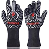 Hot BBQ Gloves Heat Resistant Kitchen Oven Mitts Professional Long Heat Resistant Cooking Gloves for Grill,Grilling,Smoker,Ba