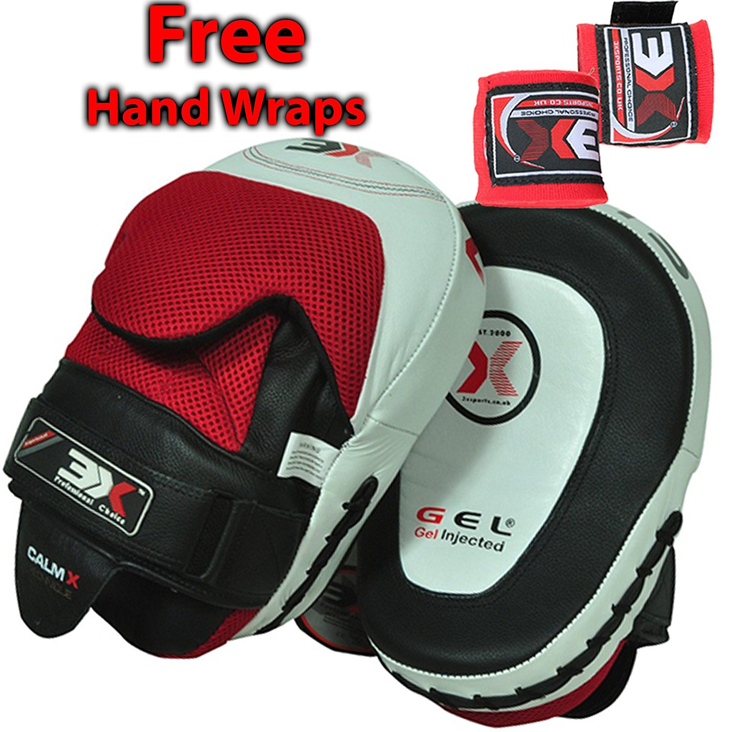 3X Professional Choice Boxing Focus Pads MMA UFC Hook Jab Target Muay Thai Kick Boxing Training Punching Strike Kick Shield 3X Sports