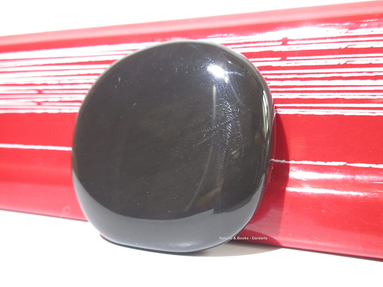 Natural & Books : Galet Obsidienne Noire (grand) EXTRA - pierre naturelle - Lithothérapie : Dissolution – Traumatisme et Blocage – Clairvoyance