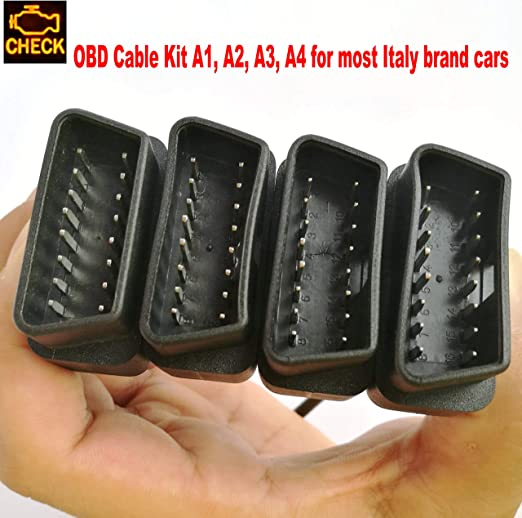 Otkefdi Obd Adapter Cable Car Obd2 Diagnostic Cable Obdii Cable For Most Obd Adapter From A1 A2 A3 A4 Auto