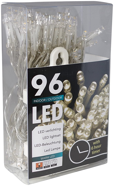 Led Lichterkette Batterie Timer 96 Lämpchen Warmweiß Für Innen Und Außen