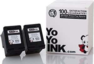 YoYoInk Remanufactured Ink Cartridge Replacement for HP 60 60XL High Yield (2 Black)