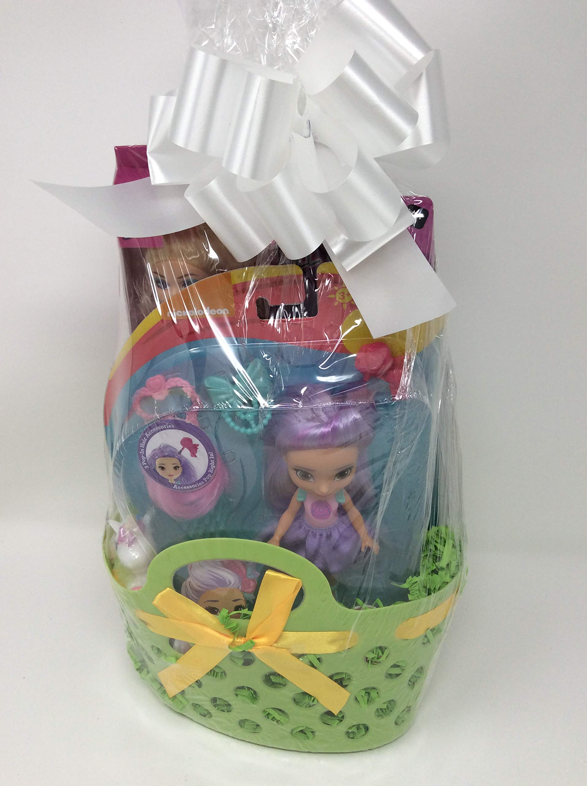 Happy Easter Birthday Basket Kids Toddlers Gift Children Party Fun Assorted Pre Made Baskets -SD Mini Doll 2 GSB by Easter and Birthday Basket
