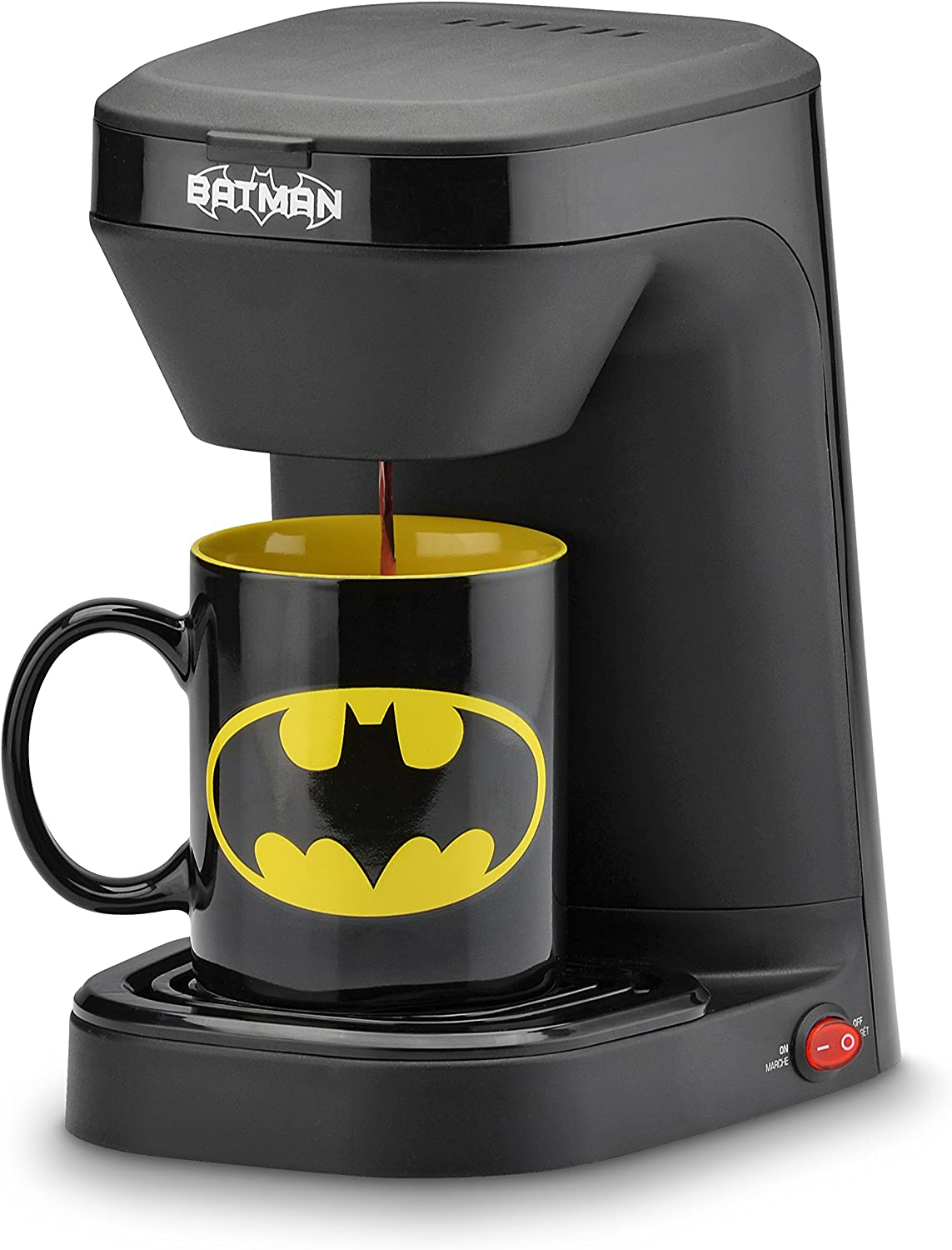 dc batman single serve coffee maker