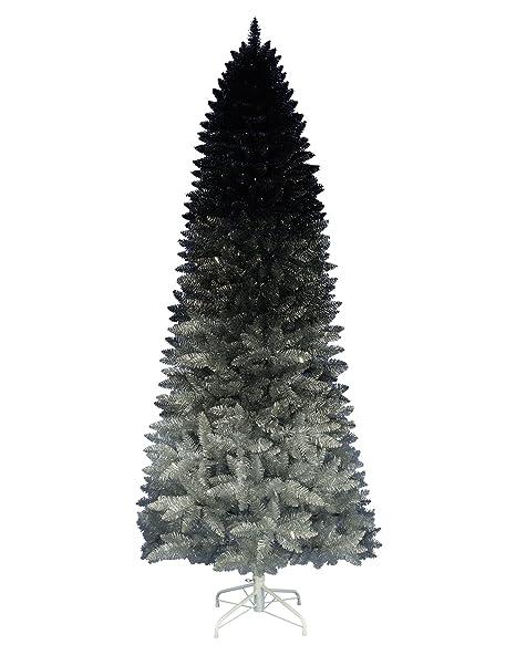 Gray Christmas Tree.Treetopia Silver Shadow Ombre Tree 6 Feet Unlit