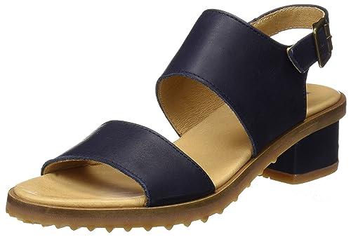 N5016, Zapatos de Tacón con Punta Abierta para Mujer, Azul (Ocean), 39 EU El Naturalista