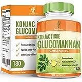 Glucomannane 500mg - Pure Fibre de Racine de Konjac - Pour Hommes et Femmes - 180 Capsules (30 Jours d'Approvisionnement) de Earths Design