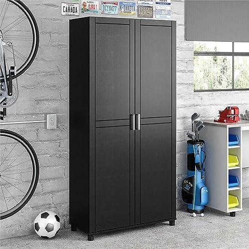 SystemBuild Callahan Storage Cabinet 36 Black