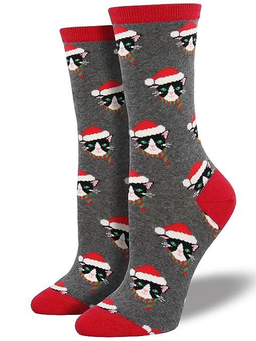 cat Christmas socks