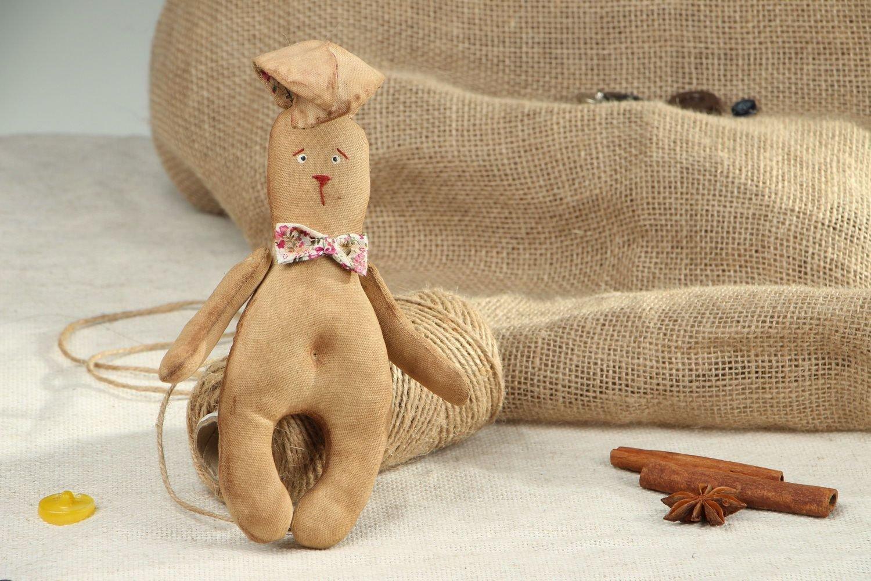 Coniglietto In Stoffa Fatto A Mano Pupazzo Di Pezza Giocattolo