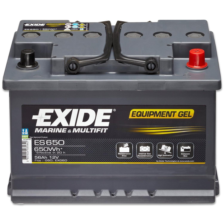 56Ah 12V Gel Batterie Solar Camping Boot *NEU* Exide Equipment Gel ES650 G60