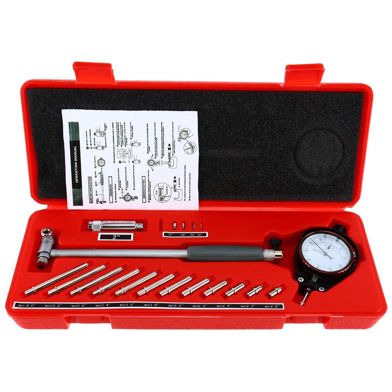 YaeTek 2' - 6' Bore Gauge 0.001' Deep Engine Hole Cylinder Measurement Gage Cylinder Dial Bore Indicator Gauge Yaemart Corportation