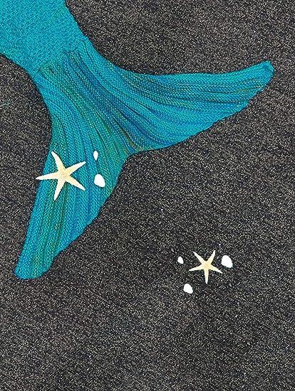 Amazoncom Feeshow Handcrafted Crochet Mermaid Tail Blanket Sofa