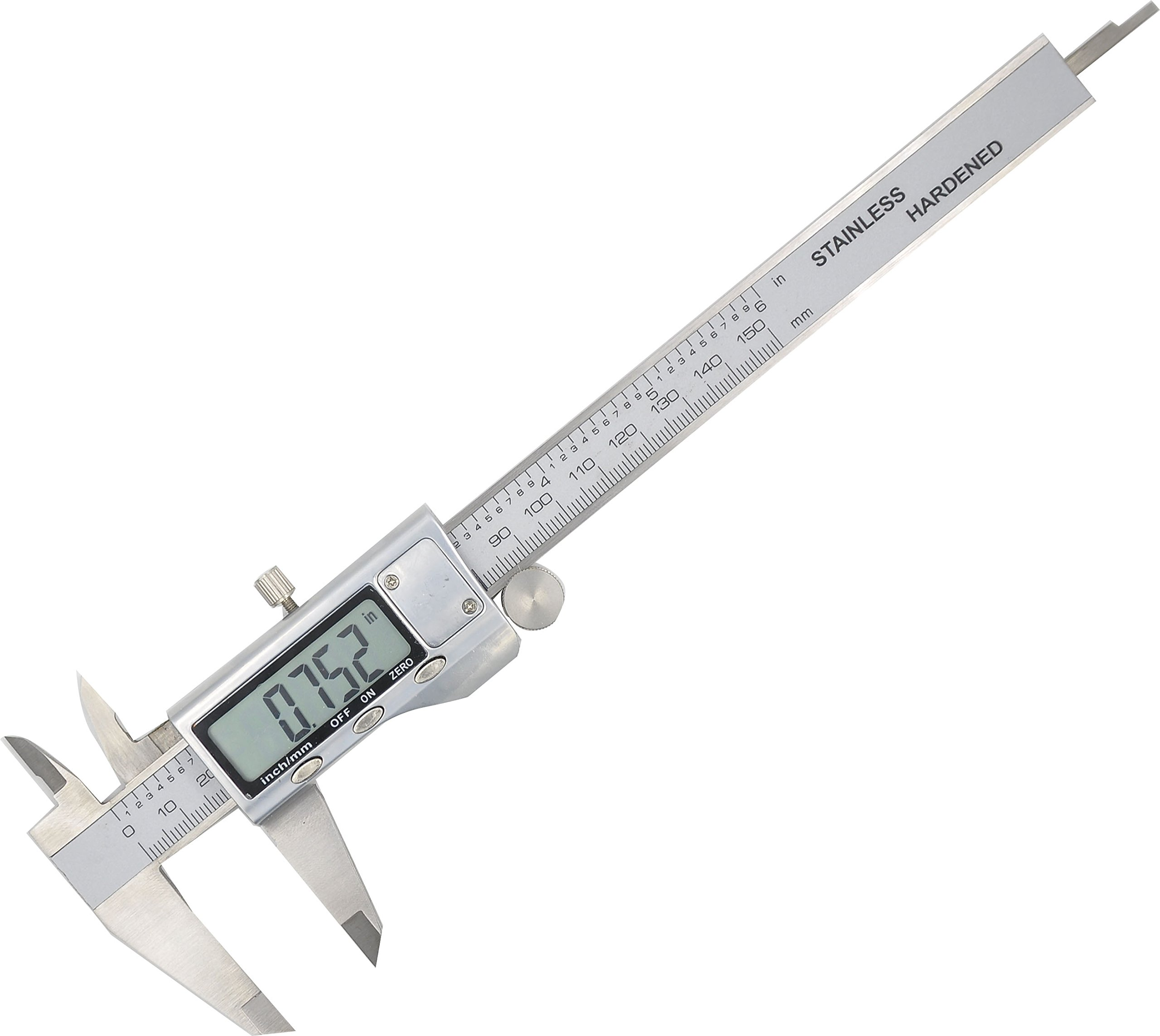 Electronic Digital Caliper - Bovini Caliper Measuring Tool in Inches & Millimeters Conversion 0-6 Inch/150 mm Stainless Steel Auto off Measuring Tool For Dimensions, Thickness, Depth, Diameter
