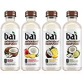Bai 椰子味饮品,Cocofusions多种包装II, 18液体盎司/530毫升瓶装,12瓶,安第斯椰汁橙,马达加斯加椰芒果,Molokai椰汁,Puna椰菠萝 每种口味3瓶