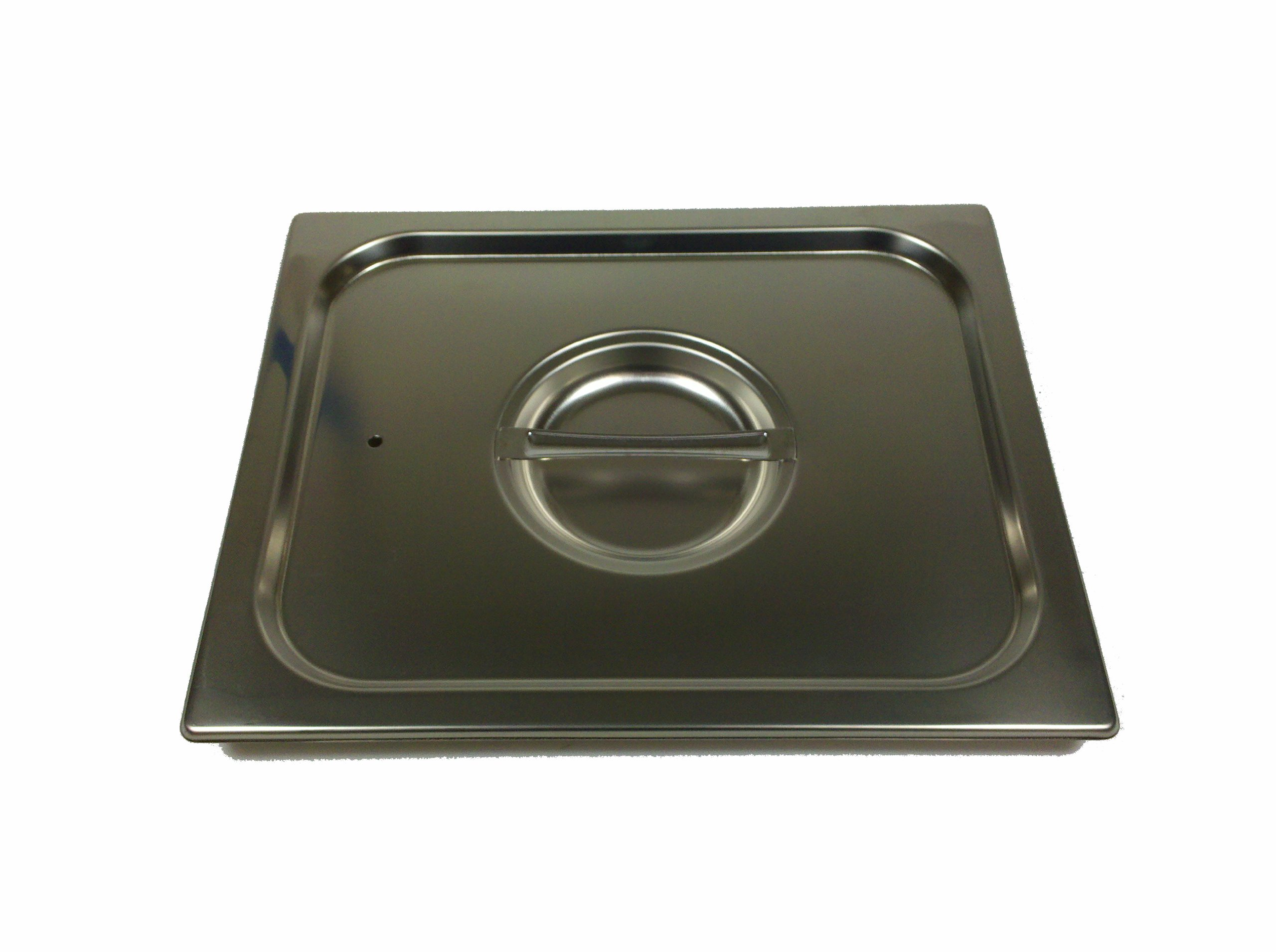 Paderno World Cuisine 20 7/8 inches by 12 3/4 inches Stainless-steel Standard Lid for Hotel Pan - 1/1