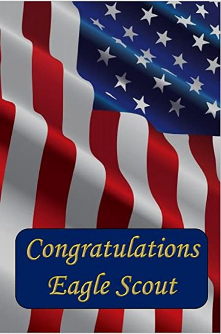 image relating to Eagle Scout Congratulations Card Printable identified as Eagle Scout Congratulations Card: American Flag