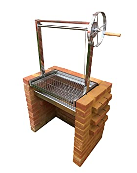 SunshineBBQs - Kit de parrilla para barbacoa de ladrillo con alturas ajustables argentinas: Amazon.es: Jardín