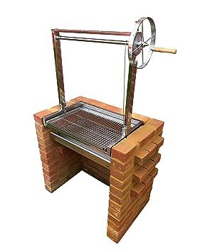 SunshineBBQs - Kit de parrilla para barbacoa de ladrillo con alturas ajustables argentinas