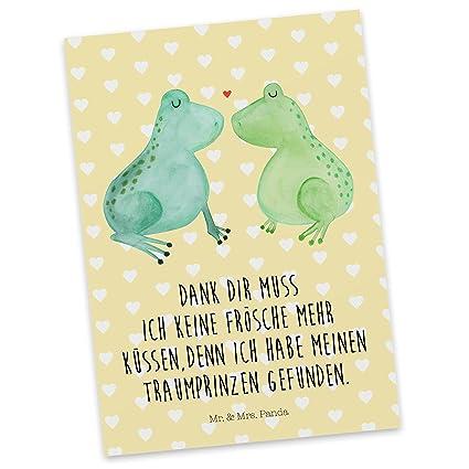 Mr Mrs Panda Sprüche Geschenkkarte Postkarte Frosch Liebe Mit Spruch Farbe Gelb Pastell