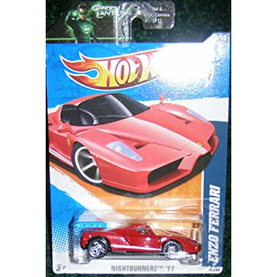 2011 HOT WHEELS NIGHTBURNERZ '11 6/10 RED ENZO FERRARI 116/244: Toys & Games