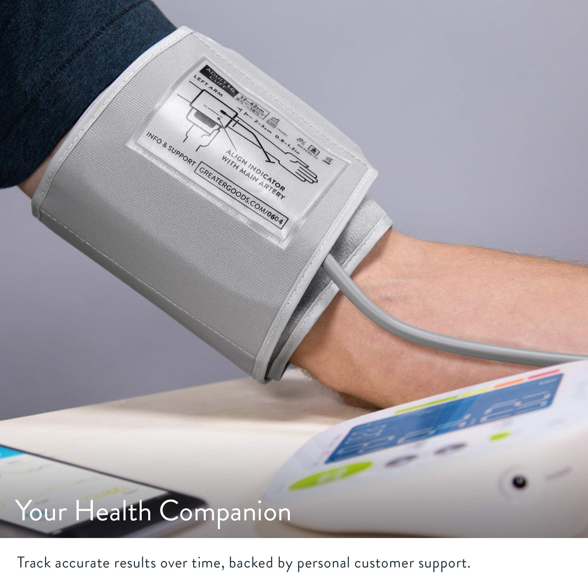 Bluetooth Blood Pressure Monitor Cuff by GreaterGoods by Greater Goods (Image #3)