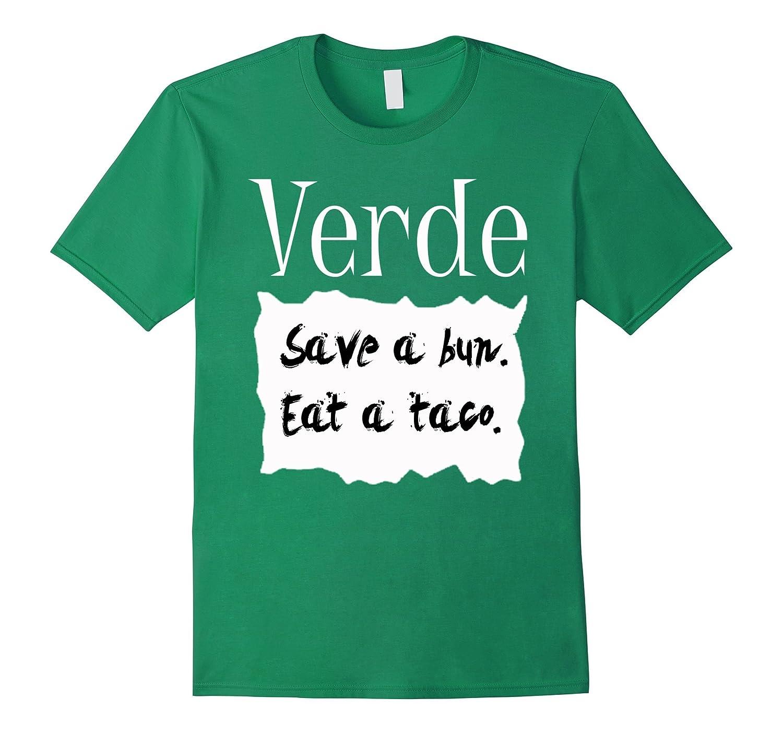 Verde Hot Sauce Packet Halloween Costume Taco T-shirt-Art