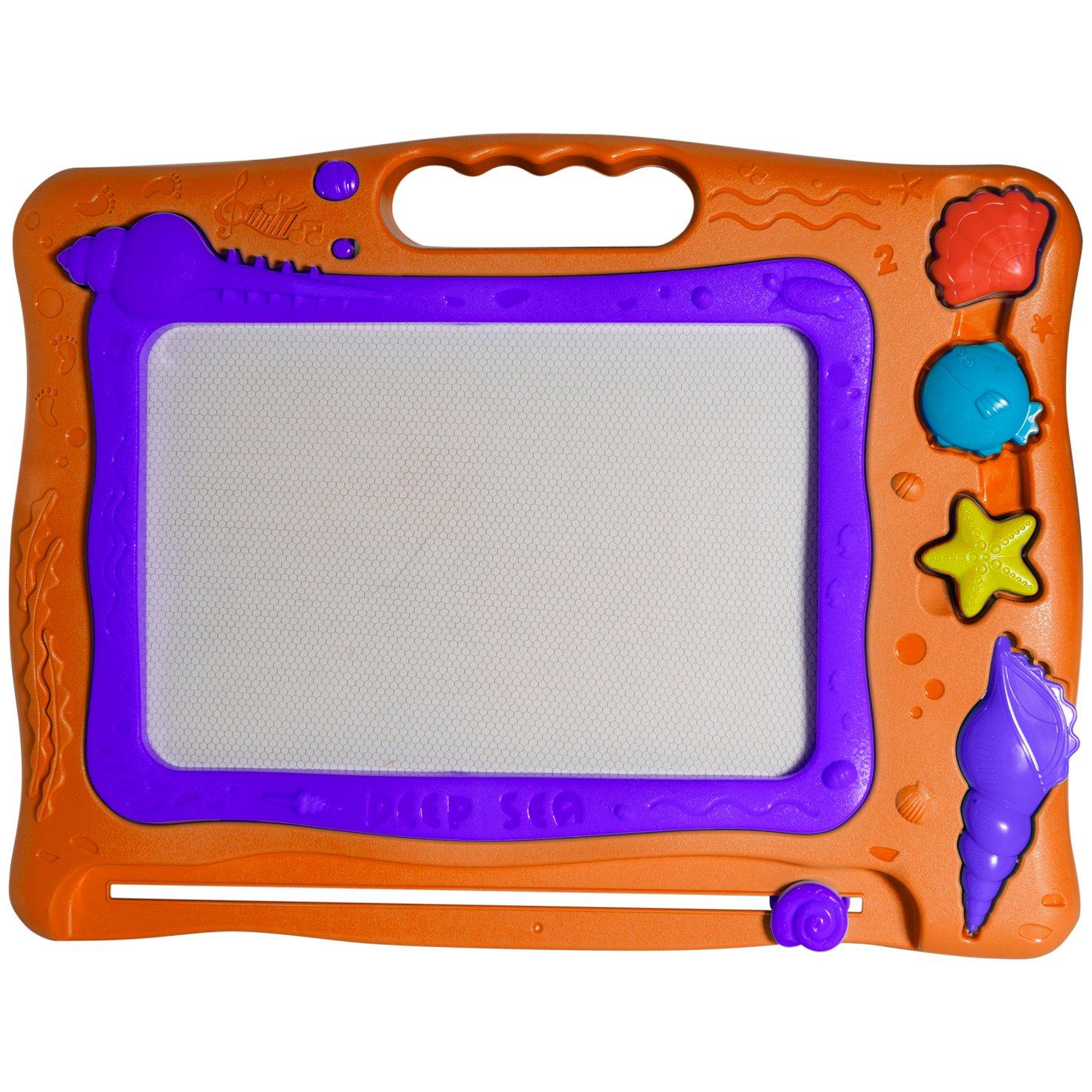 Seashell Ocean Friends Drawing Erasable Magic Drawing Board! BonBon Magnetic Drawing Board Tablet Writing Blue