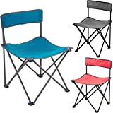 Travel and Hiking Outdoor Fold Up Stools Seat for Camping Esplic Portable Folding Stool 600D Oxford Cloth Outdoor Folding Slacker Chair with Carry Bag Fishing Picnic
