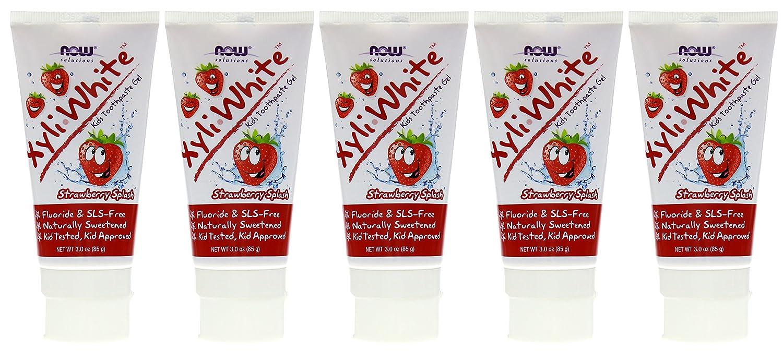 Now Foods, Solutions, XyliWhite, Kids Toothpaste Gel, Strawberry Splash, 3 oz (85 g)