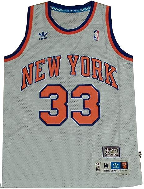 adidas New York Knicks Patrick Ewing White Swingman Jersey