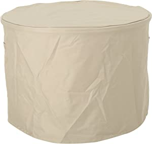 """Christopher Knight Home 305095 Paz Outdoor 34"""" by 26"""" Waterproof Round Fire Pit Cover, Beige"""